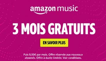 Amazon Music Unlimited – 3 mois gratuits